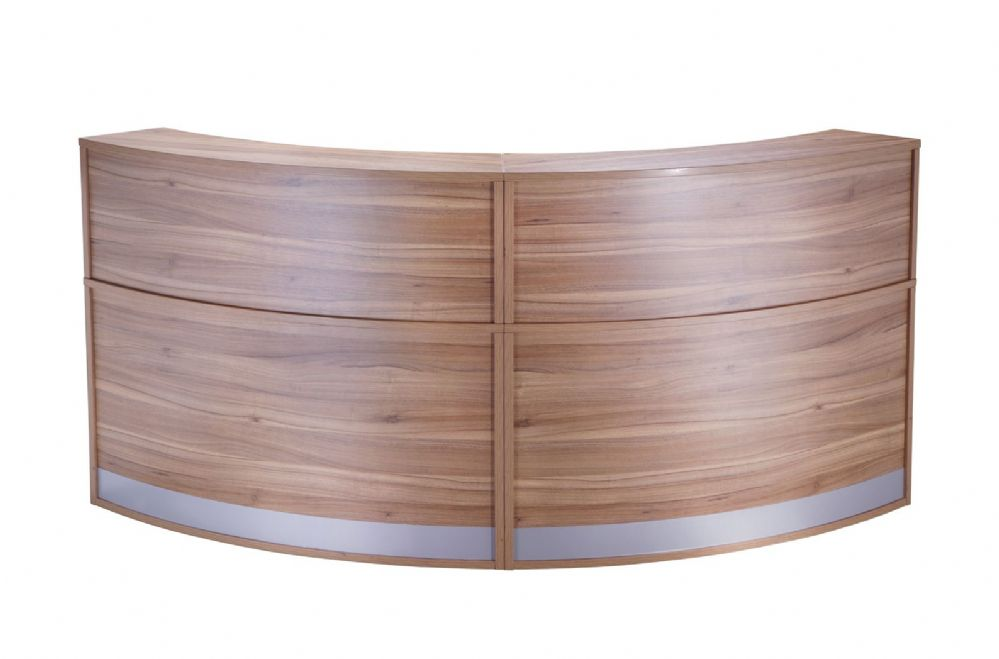 Two Section Curved Reception Counter|Full Height|Two Sections|872mm Deep|Choice of Finish